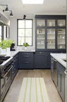 Modern Kitchen Decorating Room Ideas Interior Decor Wood Floor Marble Countertop White Grey Cabinet Design Furniture Island