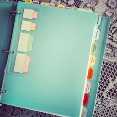 The Prettiest Household Binder (using Martha Stewart products from Staples)