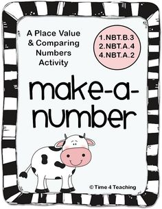 Great for math centers! This 2-person activity practices using place value to create and compare numbers. Fun! $