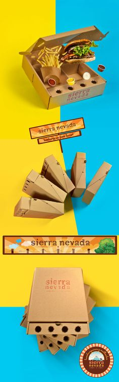 Packaging para Delivery de Hamburguesas Sierra Nevada