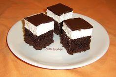 Csilla konyhája, mert enni jó!: Néger kocka Hungarian Desserts, Hungarian Cake, No Bake Cake, Tiramisu, Food And Drink, Sweets, Cookies, Ethnic Recipes, Orange