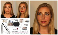 Warm Colors Holiday Look tutorial using pure, natural, organic makeup.  www.laurenbrookecosmetiques.com