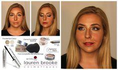 Warm Colors Holiday Look tutorial using pure, natural, organic makeup.  www.laurenbrookecosmetiques.com