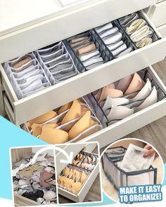 Underwear Organization, Small Closet Organization, Home Organization Hacks, Closet Storage, Master Closet, Closet Bedroom, Organizar Closet, Closet Renovation, Home Gadgets