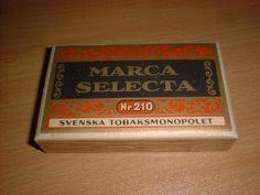 Marca Selecta Nr 210 cigarcigarett Svenska Tobaksmonopolet 1915 -1982
