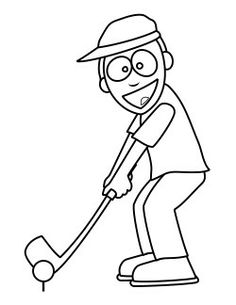 mickey mouse golf coloring page   BABY & TODDLER GOLF ...