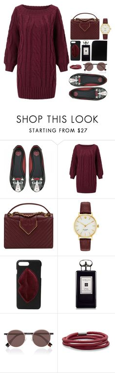 """""""MAROON"""" by lvlyuniqorn ❤ liked on Polyvore featuring Miss Selfridge, Chanel, Kate Spade, Kendall + Kylie, Jo Malone, Fendi and BillyTheTree"""