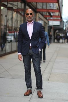 I can't pull off the pink, but this guy looks like a badass.  I want those shoes too.