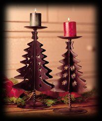 BOYDS H C ACCENTS STARS & SPRUCE CANDLE HOLDERS - SET OF 2 by Boyd's. $24.95
