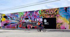 The Wynwood Walls - avaf, Nomad, Eli Sudbrack, Christophe Hamaide-Pierson, Urban Art, Street and Graffiti Art, Miami, Paris
