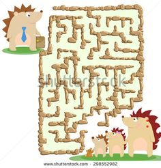 http://www.shutterstock.com/ru/pic-298552982/stock-photo-raster-illustration-of-the-stone-labyrinth-and-a-family-of-hedgehogs.html?rid=1558271