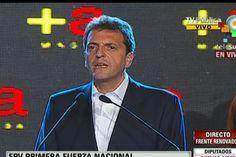 El opositor Sergio Massa recordó que su proyecto está alineado con todos los argentinos, para así buscar la presidencia en 2015 (Foto: teleSUR)