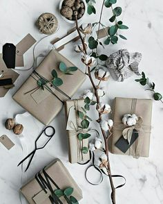 Get in the holiday spirit! As you're buying gifts, add a personal touch with Unique 50 Christmas gift wrapping ideas! Upcycled Kraft Paper Gift Wrapping Ideas From: The Found and The Fancy How to P… Wrapping Ideas, Present Wrapping, Creative Gift Wrapping, Creative Gifts, Paper Wrapping, Elegant Gift Wrapping, Christmas Gift Wrapping, Christmas Presents, Holiday Gifts