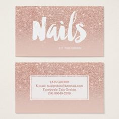 Shop Microblading elegant typography blush rose gold business card created by girly_trend. Personalize it with photos & text or purchase as is! Gold Business Card, Makeup Artist Business Cards, Business Card Design, Nail Logo, Makeup Artist Logo, Bussiness Card, Elegant Logo, Rose Gold Glitter, Glitter Bomb