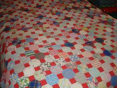 Great old hexagon quilt