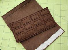 Me encanta esta tableta de chocolate de fieltro