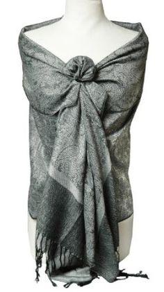 1b0cbd01f9b7f Peach Couture Elegant Vintage Jacquard Paisley Feel Shawl Wrap Scarf (Baby Pink  Lime Green) at Amazon Women s Clothing store