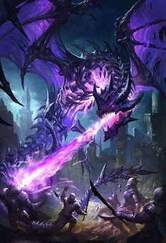 Mythical Creatures Art, Mythological Creatures, Magical Creatures, Dark Fantasy Art, Fantasy Artwork, Fantasy Monster, Monster Art, Mythical Dragons, Cool Dragons