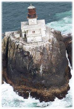 Tillamook Rock Lighthouse - majestic beauty still stands tall upon it's perch along the Oregon coastline!