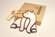 """Купить Декоративная подвеска-мобиль """"Северный мишка"""" - белый, белый медведь, мишка, Витраж"""