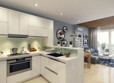 flooring small open plan kitchen designs: Small Open Living Room