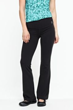 Women's Solid Control Performance Boot-cut Pants from Lands' End