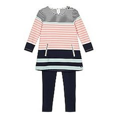 J by Jasper Conran - Girls' multi-coloured striped tunic and navy leggings set
