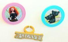 Brave Disney Pixar Cupcake Ring Cake Toppers - includes Merida  Cub