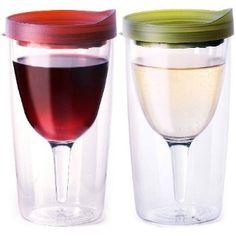 Vino2Go Merlot Red and Verde Green 10... $14.39 #bestseller