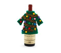 Ugly Christmas Sweaters For Wine Bottles $12