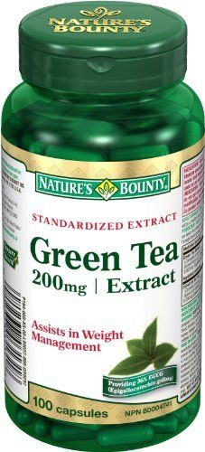 Nature's Bounty Green Tea 200mg - Extract 100 count by Nature's Bounty, http://www.amazon.ca/dp/B00BMEHSL2/ref=cm_sw_r_pi_dp_eOWwrb03N9B13