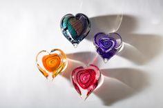 """Freeform Heart Art-Glass 3"""" - 4"""" Paperweight by Scott Hartley ♥≻★≺♥"""