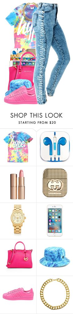 """""""Untitled #372"""" by mindlessjayjayluvsyou143 ❤ liked on Polyvore featuring PhunkeeTree, Charlotte Tilbury, Gucci, Michael Kors, MICHAEL Michael Kors, Rook, adidas Originals and Gogo Philip"""
