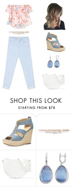 """#denim #contest #stradivarius #cool"" by hirw ❤ liked on Polyvore featuring MICHAEL Michael Kors, BCBGMAXAZRIA, Victoria Beckham and Denimondenim"