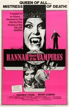 Young Hannah, Queen of the Vampires (La tumba de la isla maldita, aka Crypt of the Living Dead) USA / Spain) Horror Movie Posters, Movie Poster Art, Horror Films, Film Posters, Horror Art, Classic Horror Movies, Classic Films, Non Plus Ultra, Killer Queen