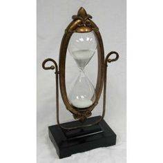 60 Minute Hourglass - Glass Sand Timer with Aged Victorian Frame: Antique Items, Vintage Items, Antique Furniture, Painted Furniture, Sand Timers, Retro Stil, Deco Design, Vintage Love, Hourglass