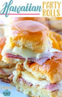Glazed ham and cheese hawaiian party rolls, Food And Drinks, Glazed Ham and Cheese Rolls You will probably notice a slight theme this week. I& been featuring food and drink that would be great for your nex. Appetizers For Party, Appetizer Recipes, Sandwich Recipes, Food For Parties, Shower Appetizers, Quesadilla Recipes, Wine Parties, Party Drinks, Party Party
