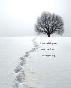 I am with you says the Lord. Haggai 2:4
