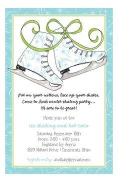 Holiday Ice Skates Invitation
