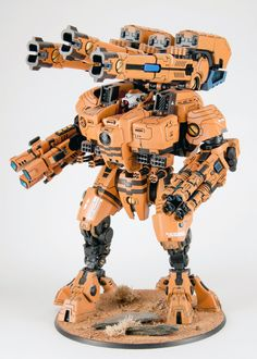 KX 139 Ta'unar Supremacy Armour, with Tri-axis Ion Cannon, and Fusion Eradicator.