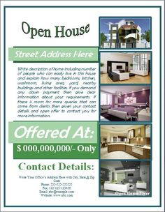Open House Flyers for Mortgage Professionals. #RealEstate #Flyers ...