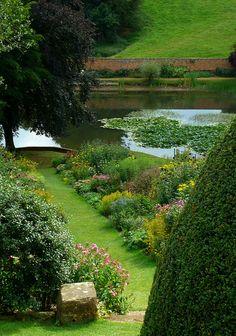 Mirror Pond at Upton House Garden, Warwickshire. by Jayembee69 on Flickr.