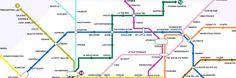 Après la carte du métro parisien en fonction des bières, des loyers et du temps de marche entre les stations, retrouve la carte du métro parisien version start-up !
