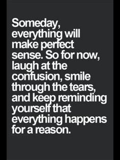 Things do happen for a reason