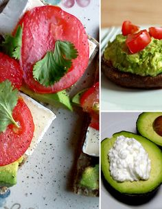 Yummy Avocado Snack Ideas for your avocado lovers! Great way to add fiber to your diet! Thanks, Pop Sugar!