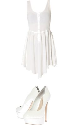 """White"" by missxtotheo123 ❤ liked on Polyvore"