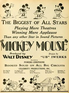 Mickey Mouse promotional poster