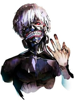 Kaneki Ken, white hair, ghoul, mask; Tokyo Ghoul