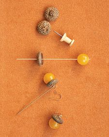 acorn earrings #DIY love it!