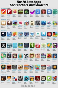 The 70 Best Apps For Teachers And Students - Edudemic. These are listed as itunes apps, but I'm sure a lot of them can be found for Android as well.